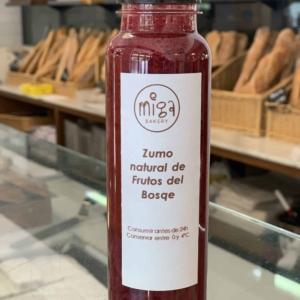 Zumo Natural de Naranja y Frutos del Bosque